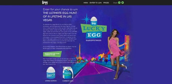 leggsluckyegg.com – L'eggs Lucky Egg Sweepstakes