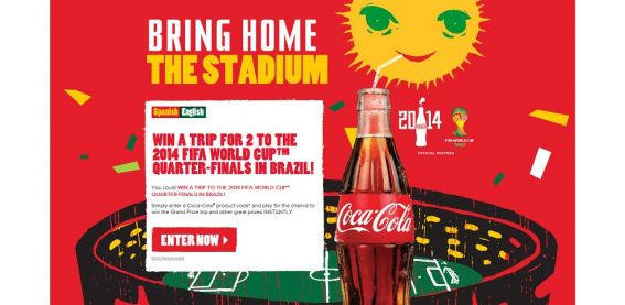 coke.com/estadio – Coca-Cola 2014 FIFA World Cup Promotion