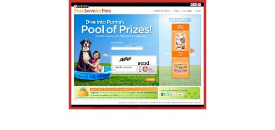 Purina Pool of Prizes Instant Win Game