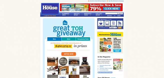 This Old House Great TOH Giveaway Sweepstakes