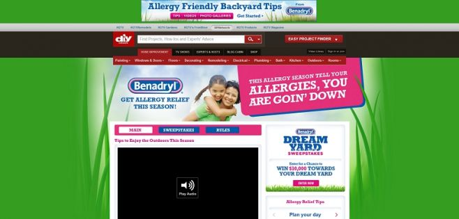 BENADRYL Dream Yard Sweepstakes