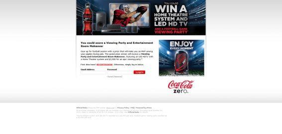 Coke Zero Fall Football Foodservice Sweepstakes