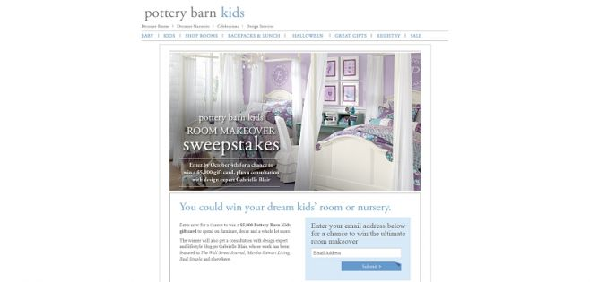 Pottery Barn Kids Room Makeover Sweepstakes