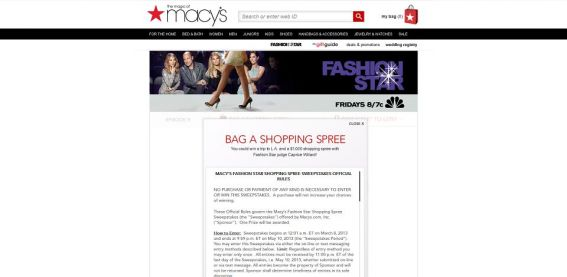 Macy's Fashion Star Shopping Spree Sweepstakes