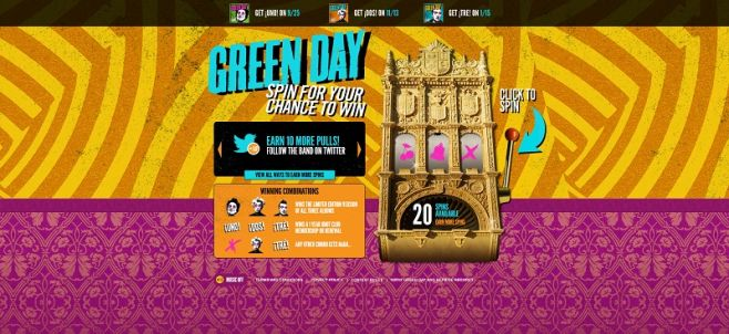Green Day Trio Sweepstakes