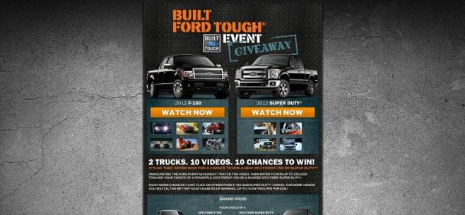fordeventgiveaway.com – 2012 Built Ford Tough Giveaway