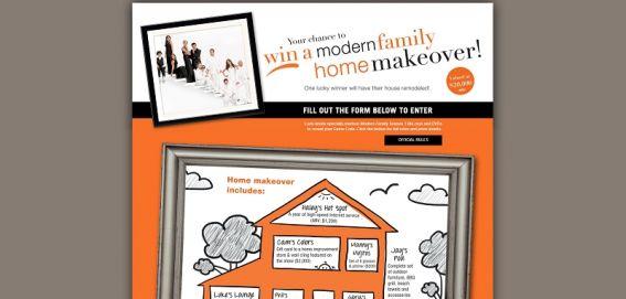 modernfamilysweeps.com – Modern Family Home Makeover Instant Win Game
