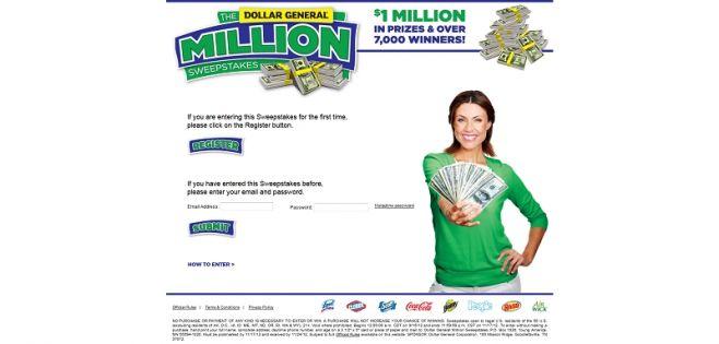Dollar General Million Sweepstakes