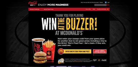 ncaa.com/mcd &#8211; Win At The Buzzer Game at McDonald&#8217;s