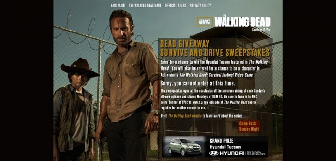 amcdead.com – AMC's The Walking Dead Watch To Win Sweepstakes