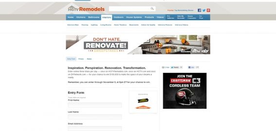 Don&#8217;t Hate, Renovate Sweepstakes