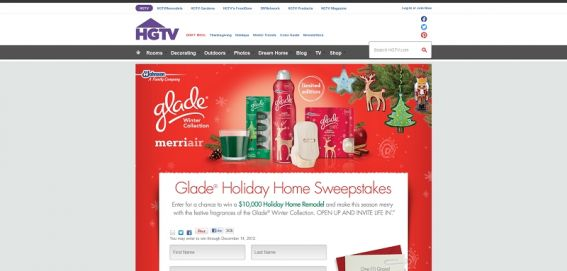 Holiday Home Sweepstakes