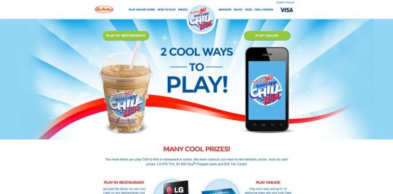 chilltowin.com – Tim Hortons Chill To Win Contest