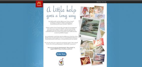 McDonald's Give A Hand Promotion