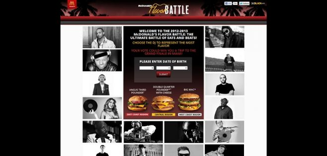 McDonald's Flavor Battle Sweepstakes