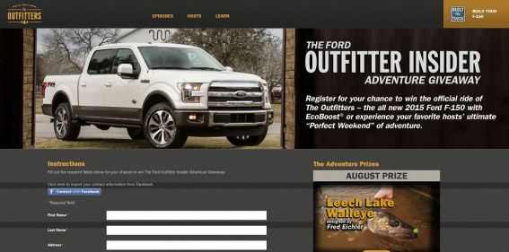 Ford Outfitter Insider Adventure Season 2 Giveaway