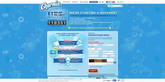 Charmin Relief at the Beach Sweepstakes : Join in, help raise the Relief Count and you could win a trip to Tampa, FL !