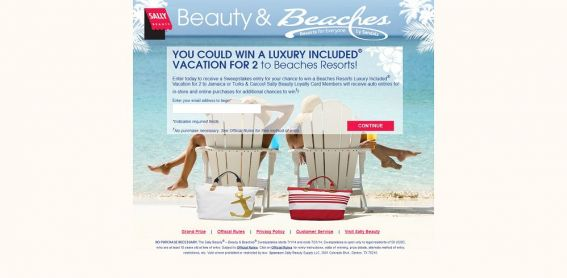 Beauty & Beaches Sweepstakes : Be flown to Jamaica or Turks & Caicos to enjoy a Beaches Resorts Luxury Included Vacation !