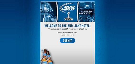 budlighthotel.com – Bud Light Super Bowl Experience at Bud Light Hotel New Orleans Sweepstakes