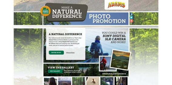Adams Make a Natural Difference Photo Promotion : Win a Sony Digital SLR Camera and more!