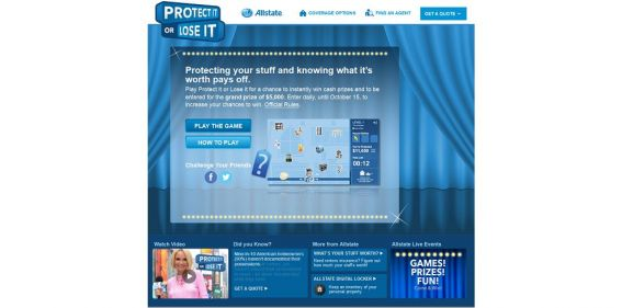 Allstate Protect it or Lose it Sweepstakes : 1 of 95 prepaid gift cards worth up to $5,000