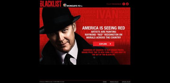 The Blacklist Murals Sweepstake