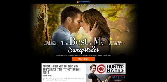 Fandango The Best of Me Sweepstakes : Meet And Greet With Hunter Hayes