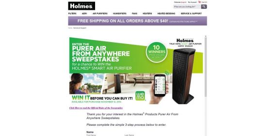 Holmes Purer Air from Anywhere Sweepstakes : Win It Before You Can Buy It