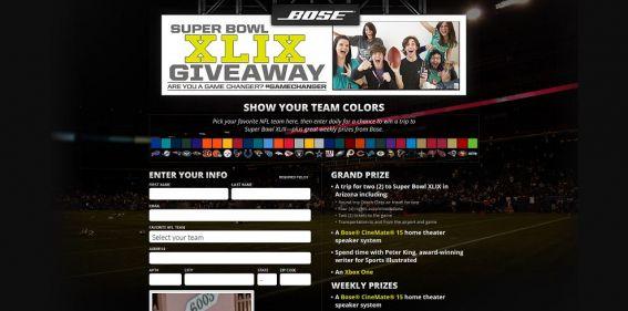 Bose Super Bowl XLIX Giveaway : Show Your Team Colors !
