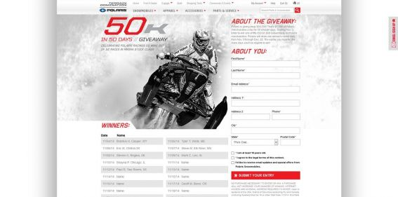 Polaris $50K In 50 Days Giveaway : $50,000 in prizes