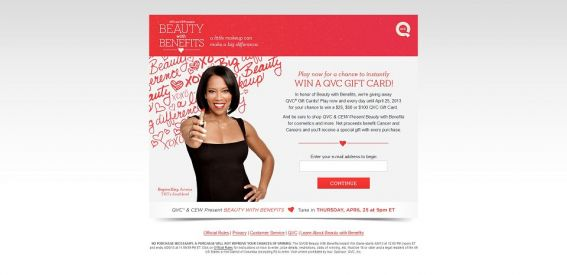 qvcsweepstakes.com – QVC Beauty With Benefits Instant Win Game