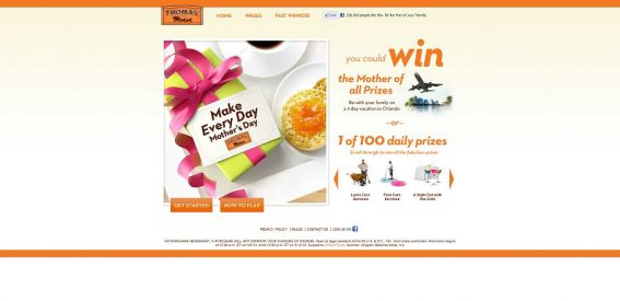 thomasmothersday.com – Thomas' English Muffins and Bagels Make Every Day Mother's Day Promotion