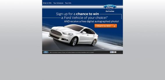 2013 Ford Experience Tour Sweepstakes