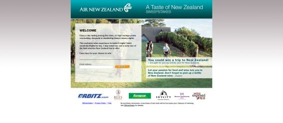 Taste of New Zealand Sweepstakes