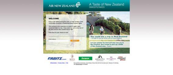 Taste of New Zealand Sweepstakes