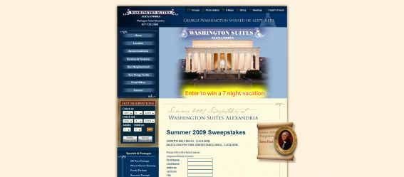 Washington Suites Alexandria Sweepstakes