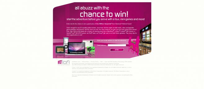 Aloft Explore, Amuse + Win