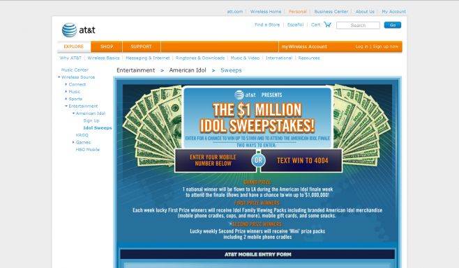 AT&T American Idol Sweepstakes