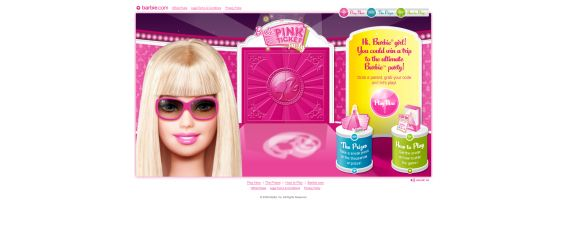 Barbie Pink Ticket Party Instant Win Game