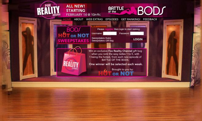 Fox Reality Channel's Bods Hot or Not Sweepstakes