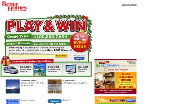 Play & Win Sweepstakes