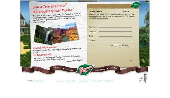 America's Greatest Parks Sweepstakes