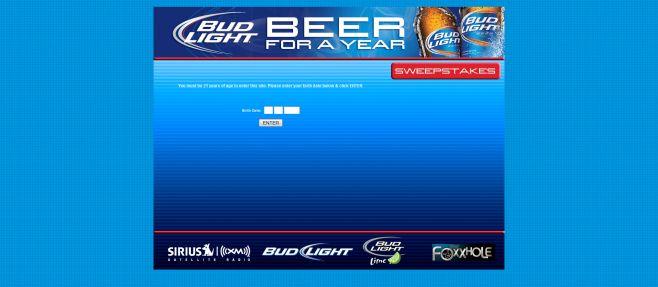 Bud Light Beer F