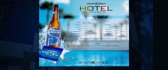 Bud Light Hotel Sweepstakes