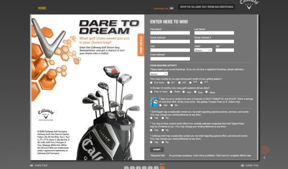Callaway Golf Dream Bag Sweepstakes