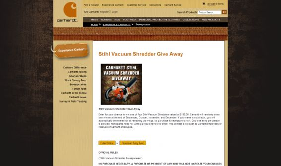 Stihl Vacuum Shredder Sweepstakes