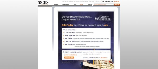 Ghost Whisperer Sweepstakes