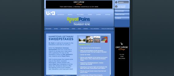 Royal Pains Hamptons Getaway Sweepstakes