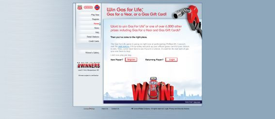 ConocoPhillips Gas For Life Promotion