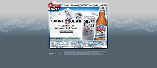 Coors Light Silver Ticket Sweepstakes